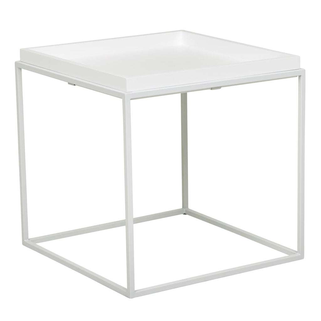 Soho Cirque Square Side Table - White