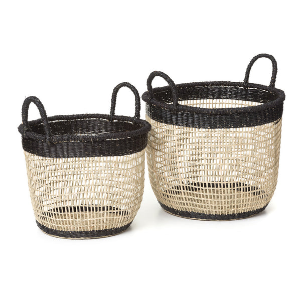 Fine Seagrass Baskets Set of 2
