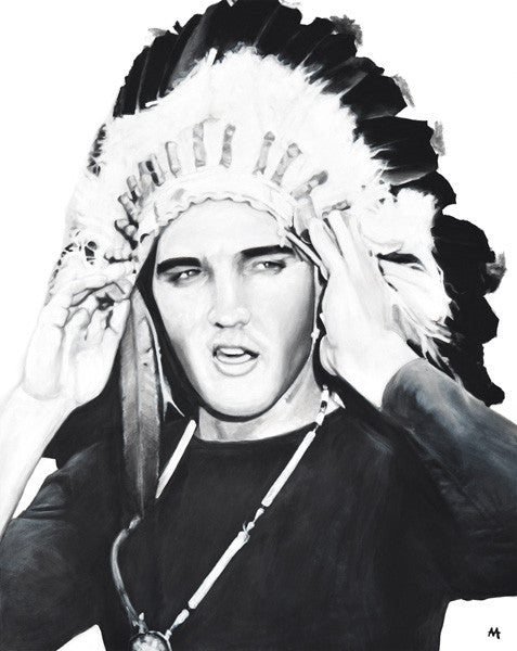 Elvis in Head Dress by Adoni Astrinakis