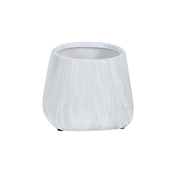 TREVI MARBLE EFFECT CERAMIC PLANTER - SMALL