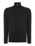 Half Zip - Deep Black