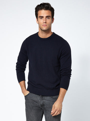100% Cashmere Pullover - Deep Navy
