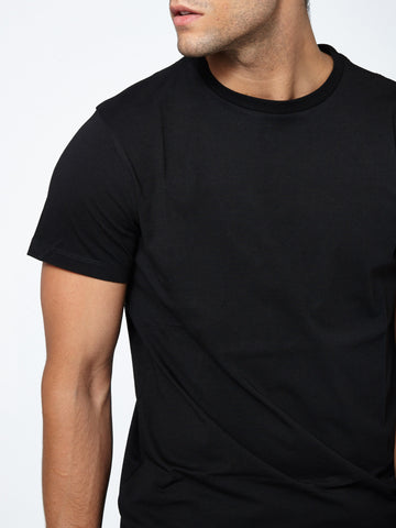 Tailored Crew Neck - Deep Black