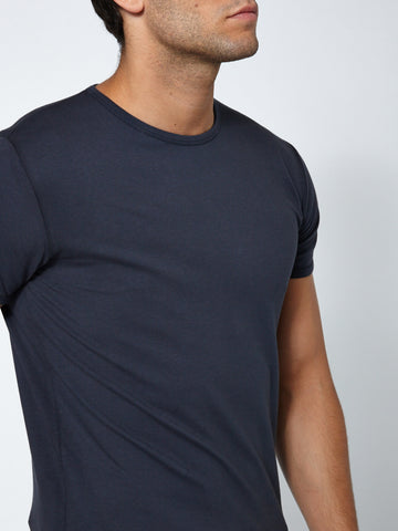 Muscle Fit Crew Neck - Dark Navy