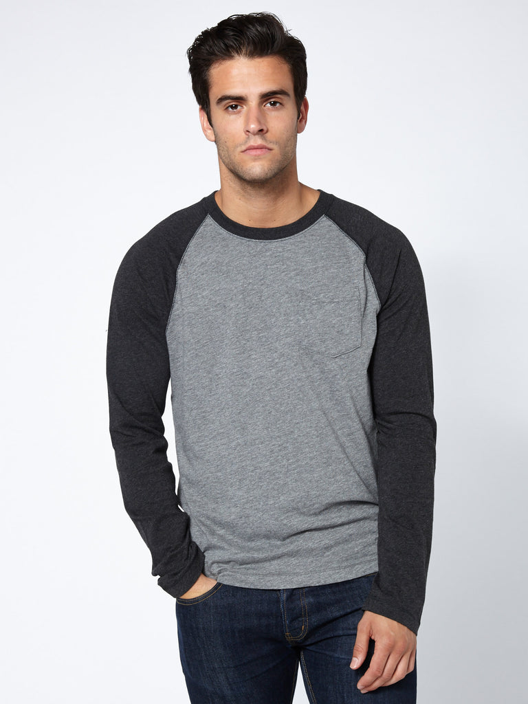 Two tone slump raglan