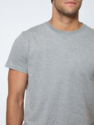 Tailored Crew Neck - Grey Melange