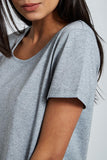 'Lusso' U Neck T Shirt : Heather Grey