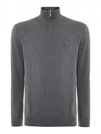Half Zip - Soft Grey