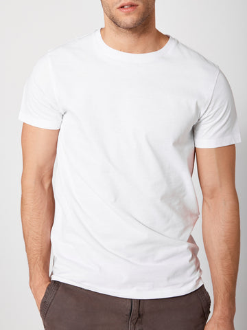 Tailored Crew Neck - Clean White