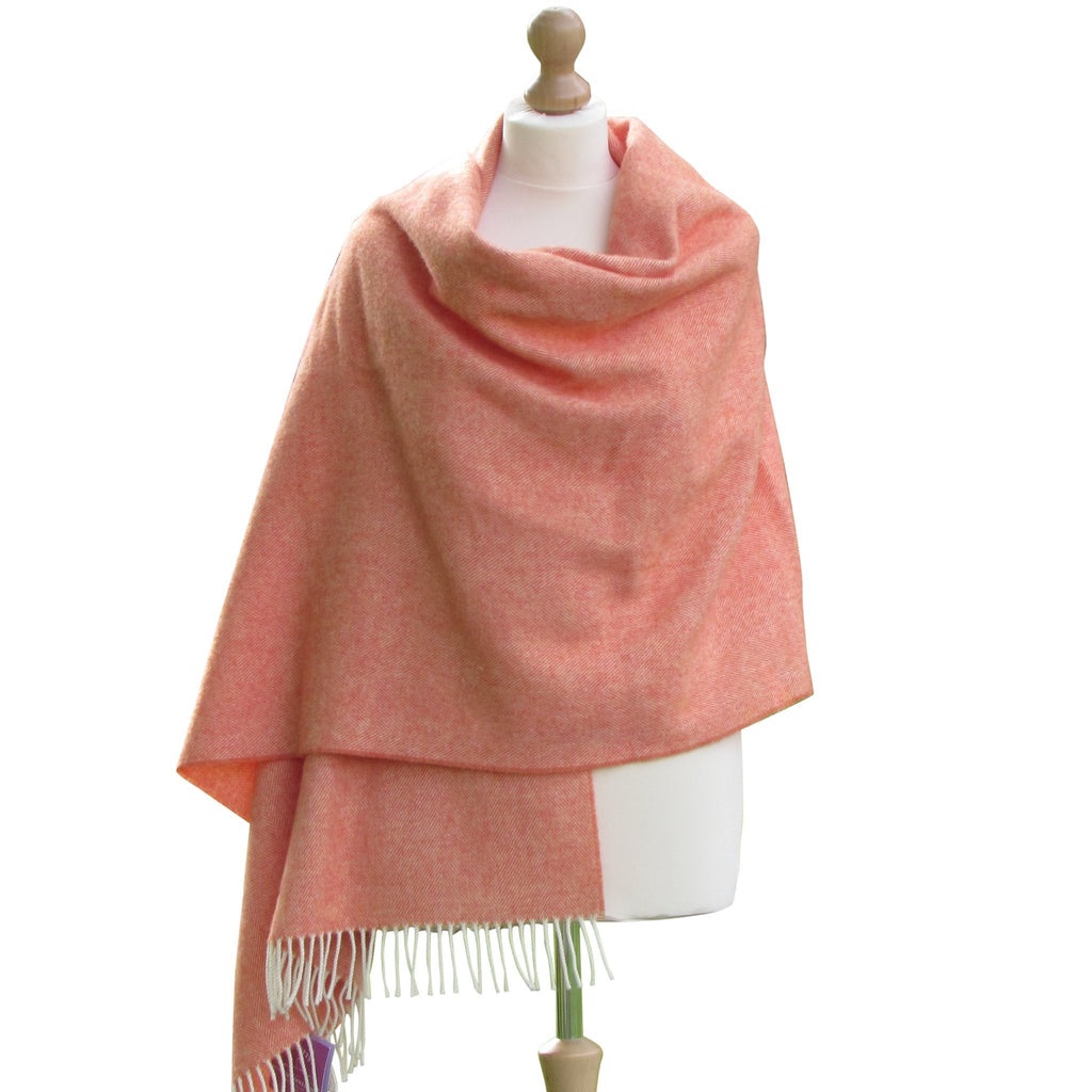 Lambswool Pashmina Shawl-Orange