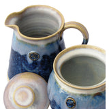 Blue Sugar and Creamer Set by Castle Arch Pottery Kilkenny Ireland