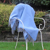 Merino Cashmere Wool Blanket-Blue - The Irish Gift Market