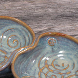 Irish made  double heart bowl with Celtic Spiral