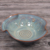 Irish Handmade Tableware Serving bowl with Celtic Spiral Design by Castle Arch Pottery Ireland