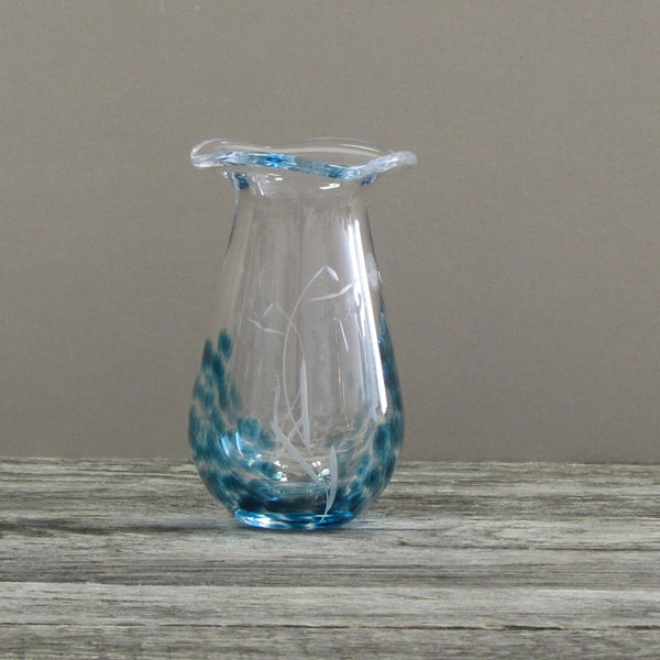 Small Posy Flower Vase by the Irish Handmade Glass Company Waterford-Celtic Meadow Design