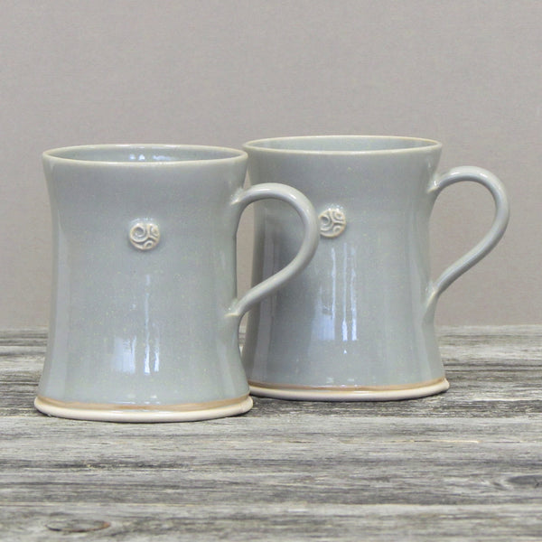 Set of Two Grey Coffee & Tea Mugs by Castle Arch Pottery Ireland