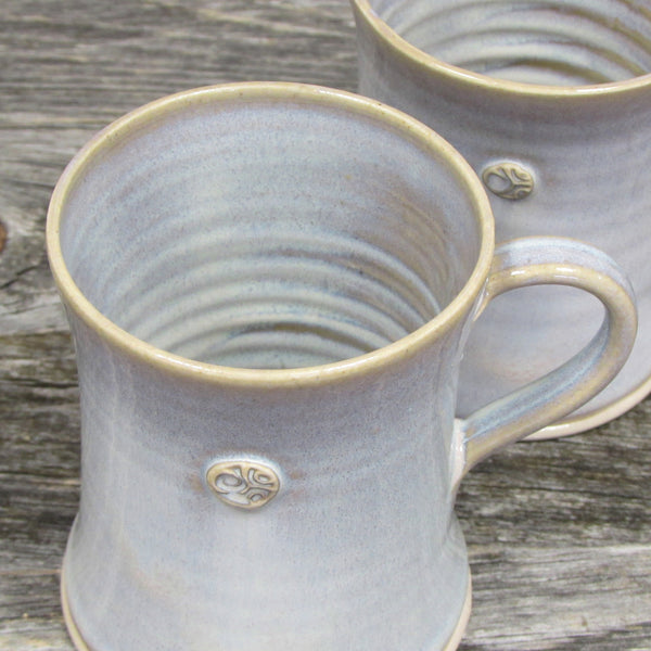 Set of Two Bán (White) Coffee & Tea Mugs by Castle Arch Pottery Ireland