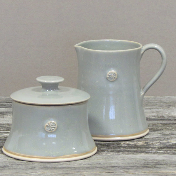 Grey Sugar & Creamer Tableware Set by Castle Arch Pottery Ireland