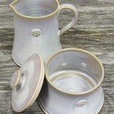 Irish made sugar bowl and creamer set by Castle Arch Pottery Ireland