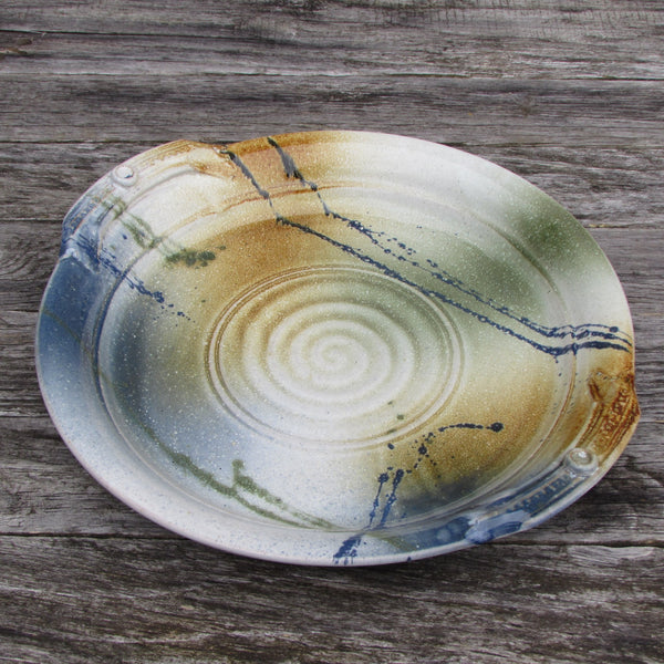 Round Serving Platter with Handles