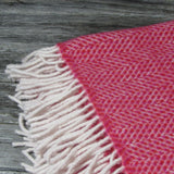 Merino Cashmere Wool Blanket-Red - The Irish Gift Market