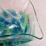 Medium handmade glass serving bowl made in Ireland