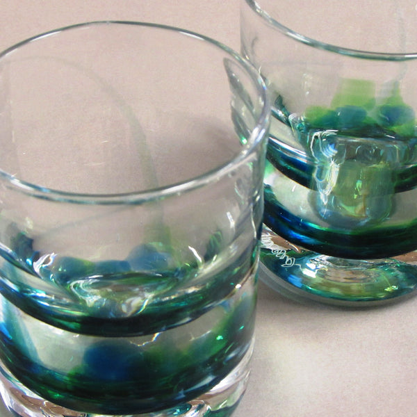 Set of Irish Whiskey Glasses-Seascape Green