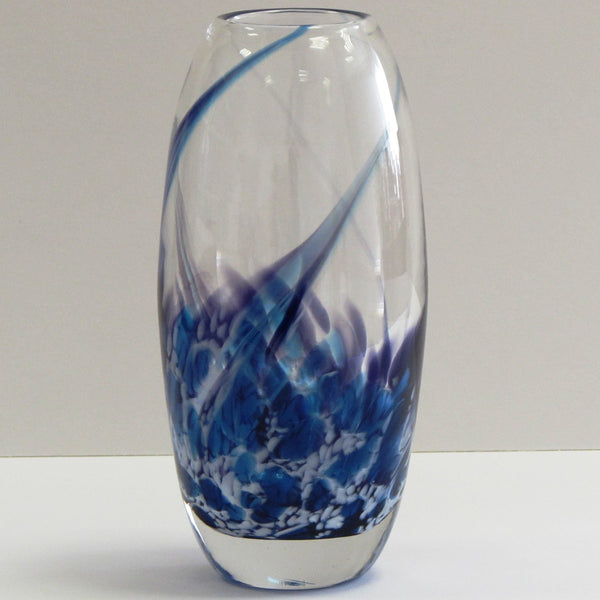 Tulip Flower Vase- Heather Blue