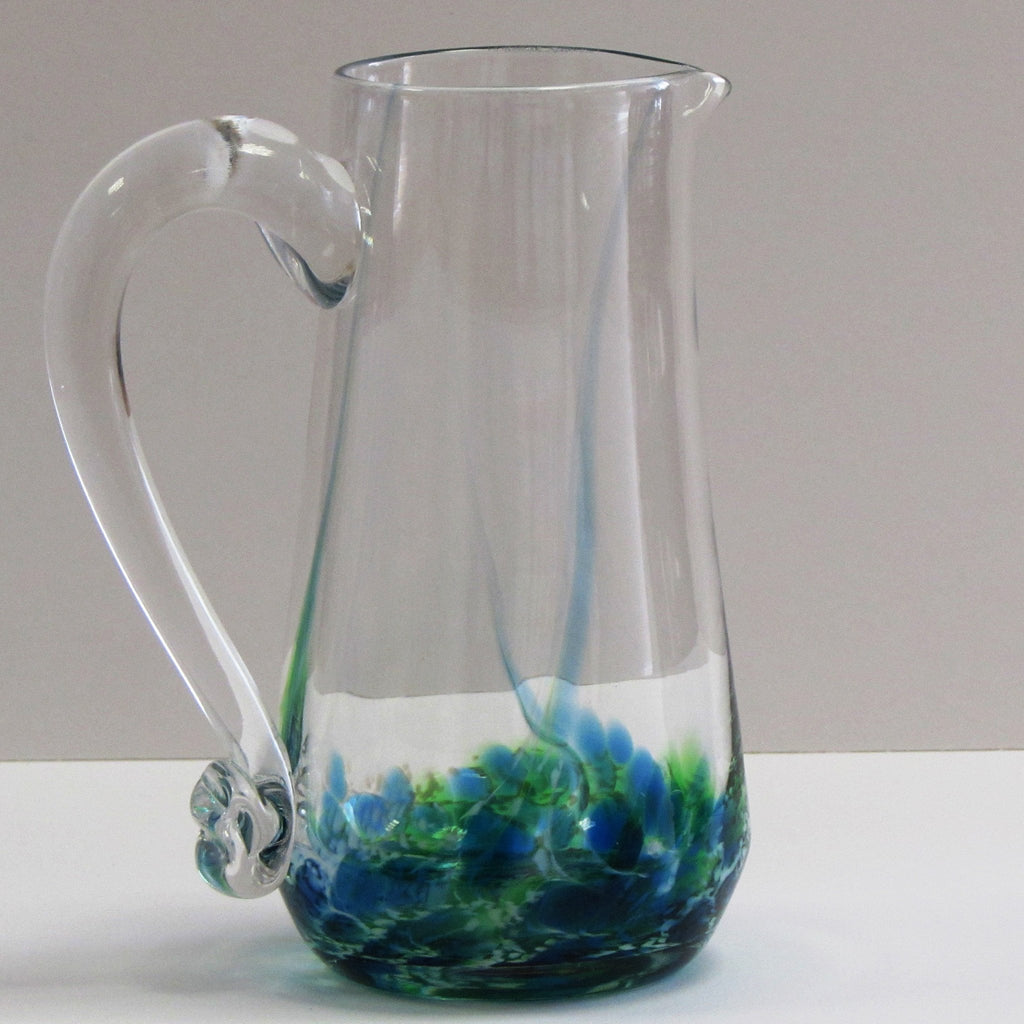 Glass Pitcher-Seascape Green