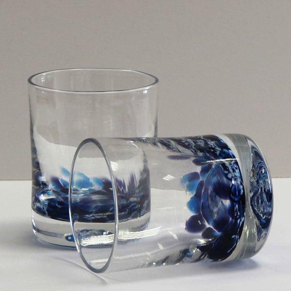 Set of Irish Whiskey Glasses-Heather Blue