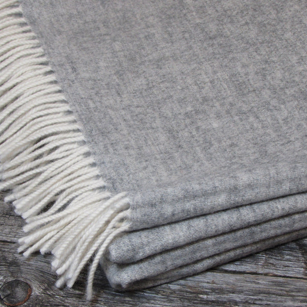 Lambswool Pashmina Shawl-Light Grey