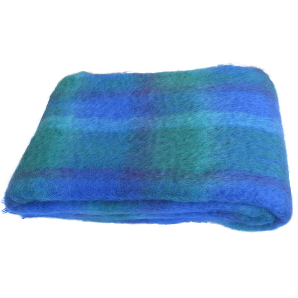 Large Brushed Mohair Throw Blanket by Cushendale Woolen Mill