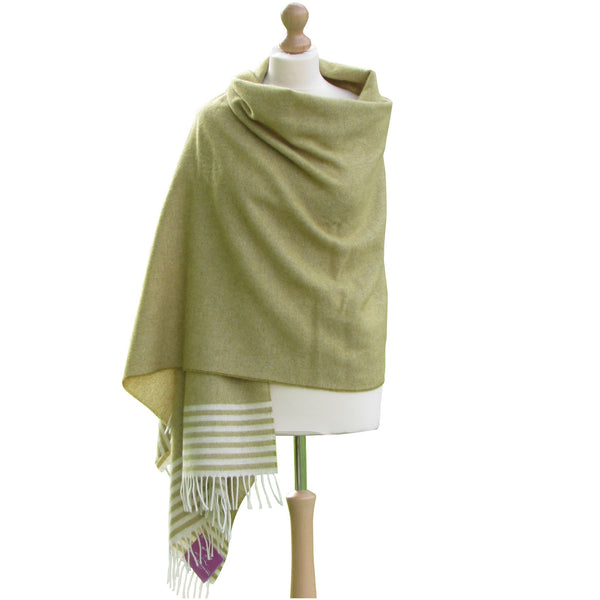 Lambswool Pashmina Shawl-Green