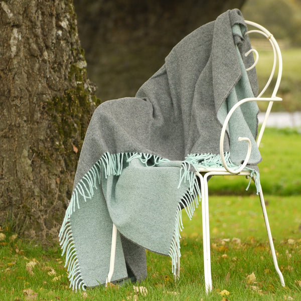 Lambswool Blanket-Charcoal