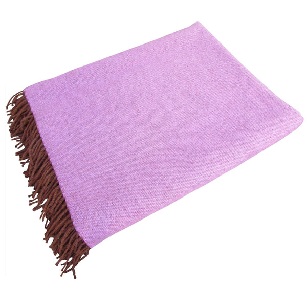 Lambswool Blanket-Plum