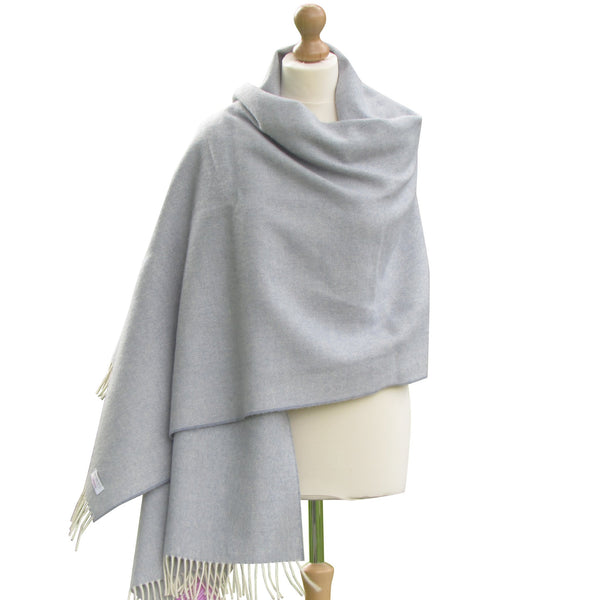 Lambswool Pashmina Shawl-Blue