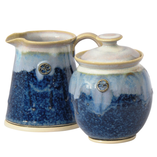 Sugar and Creamer Set-Hampton Blue by Castle Arch Pottery