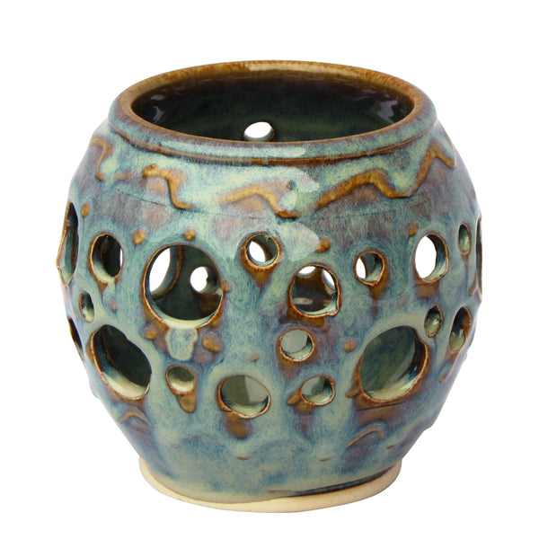 Decorative Tea Light Candle Holder by Castle Arch Pottery
