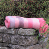 Merino Cashmere Wool Blanket-Coral - The Irish Gift Market