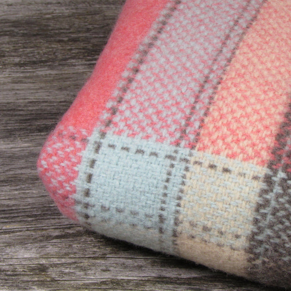 Merino Cashmere Wool Blanket-Coral