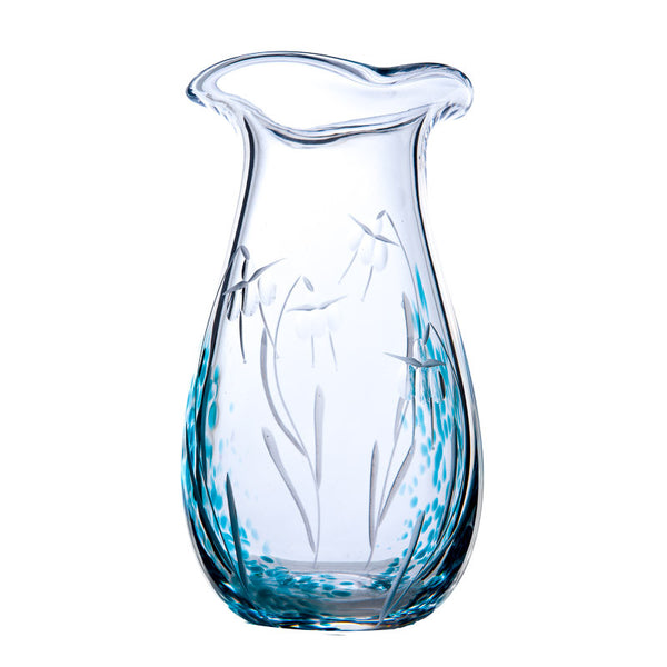 Medium Flower vase by the Irish Handmade Glass Company Waterford-Celtic Meadow Design