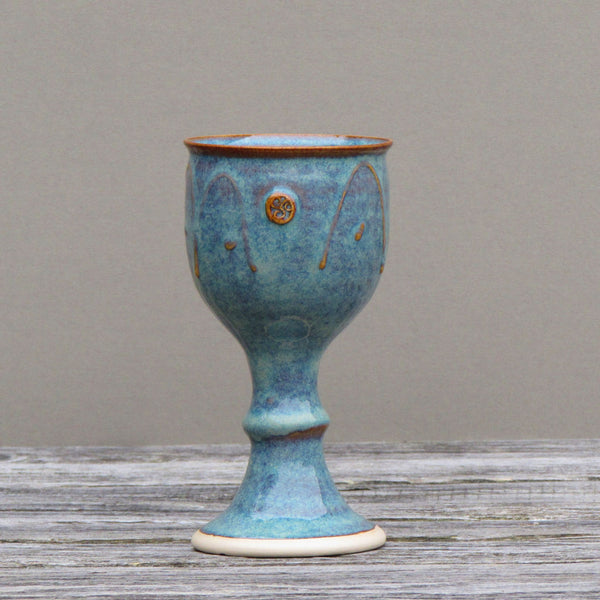 Goblet with Celtic Spiral Logo by Castle Arch Pottery Studio Ireland