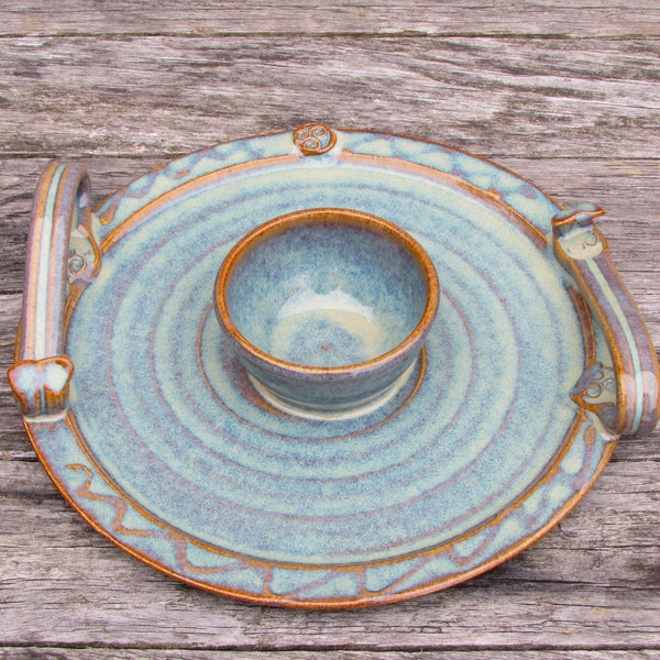 Party Serving Plate with Dip Bowl by Castle Arch Pottery Ireland