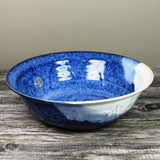 Blue handmade medium serving bowl by Castle Arch Pottery Ireland