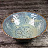 Handmade Serving Bowl with Celtic Spiral by Castle Arch Pottery Ireland