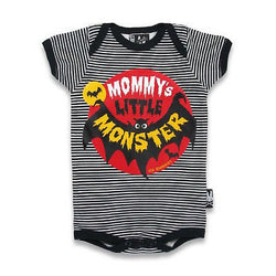Six Bunnies Short Sleeved Babygrow - Mommys Little Monster - Badass Babies