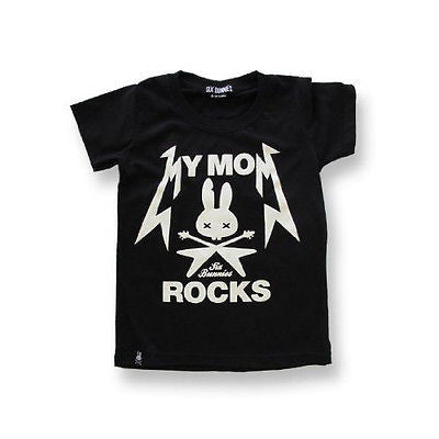 Six Bunnies Kids T-Shirt - My Mom Rocks - Badass Babies