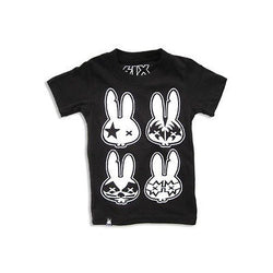 Six Bunnies Kids T-Shirt - Rock Bunnies - Badass Babies
