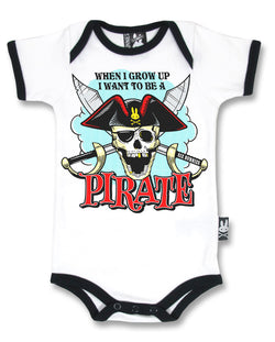 Six Bunnies Short Sleeved Babygrow - Jolly Roger - Badass Babies