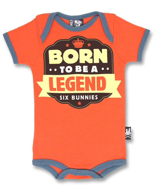 Born to be a legend Babygrow - Six Bunnies